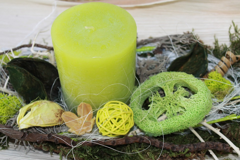 Candle, Green, Nature, Decoration