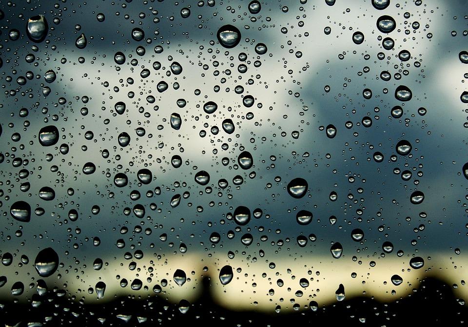 Drops, Window, Nature