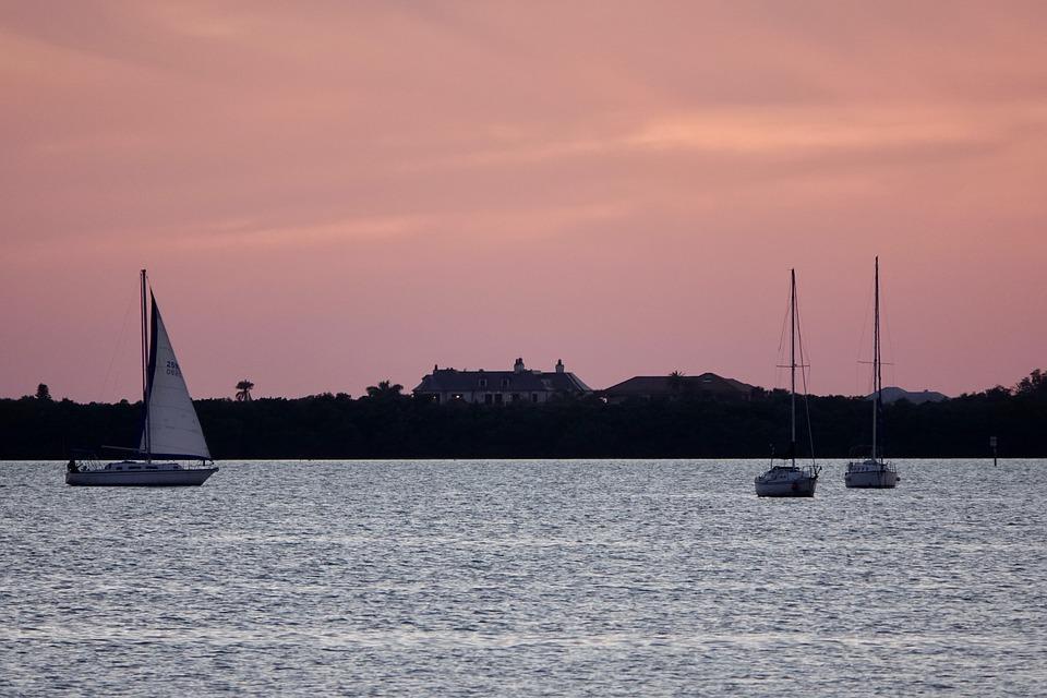 Boats, Dusk, Sailboat, Water, Sky, Calm, Travel, Nature