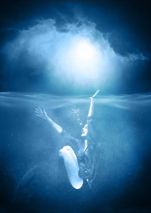 Woman, Water, Female, Sea, Nature, Mood, Swim