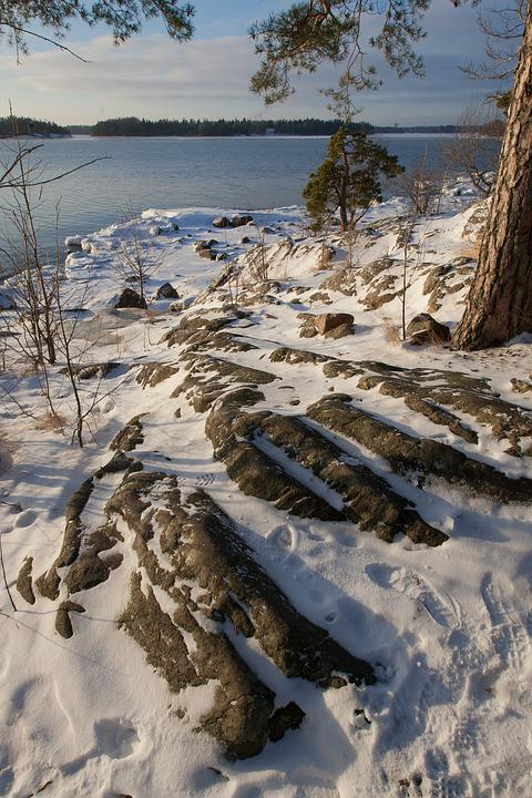 Finland, Winter, Shoreline, Snow, Cold, Nature, Freeze