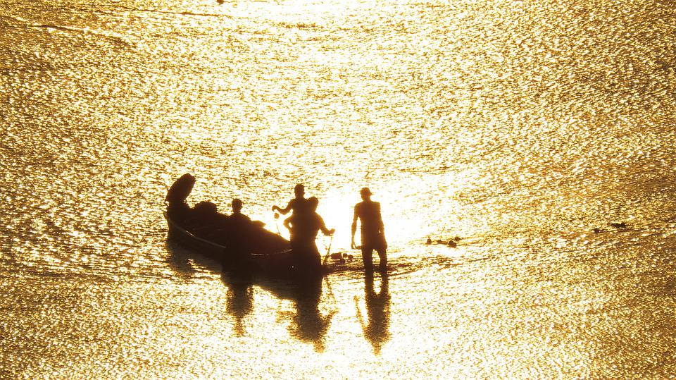 Fishermen, River, Water, Nature, Fisherman, Fishing