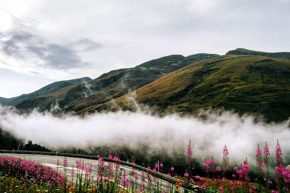 Clouds, Nature, Mountain, Fog