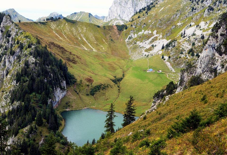 Nature, France, Alps, Haute Savoie, Lake, Landscape