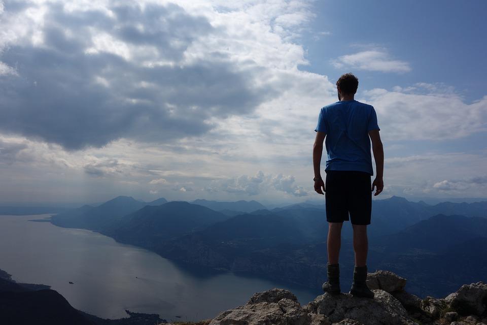 Mountain, Hike, Sky, Panorama, Nature, Garda, Hiking