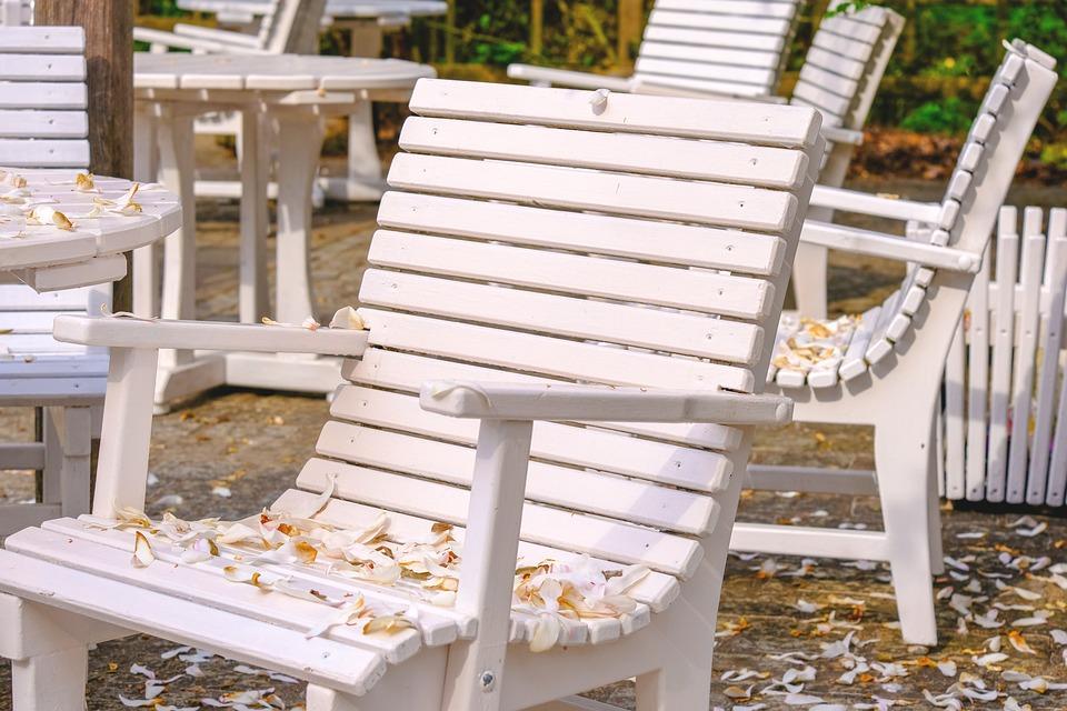 Petals, Chair, Garden, Garden Chair, Table, Nature