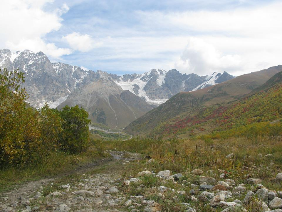 Georgia, Mountains, Spring, Landscape, Nature, Vertices