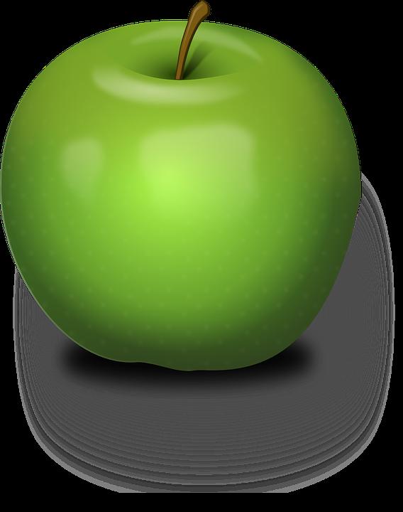 Apple, Green, Fruit, Juicy, Nature, Nutrition, Stem