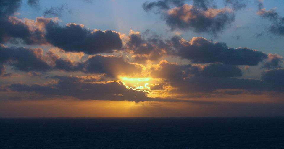 Sunset, Hawaii, Ocean, Seascape, Sun, Bright, Nature