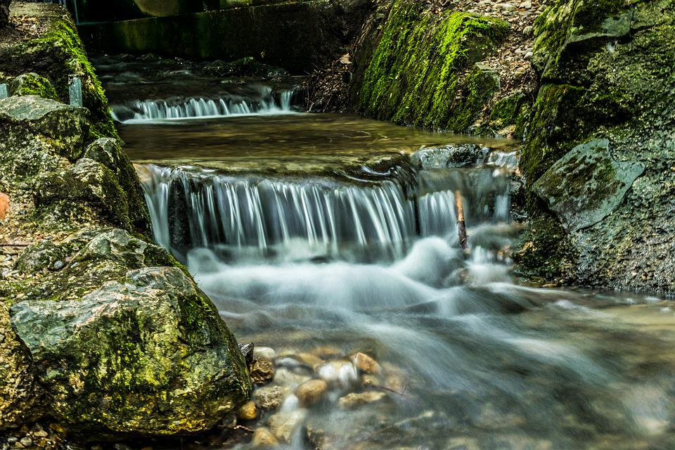 Cascade, Hdr, Waterfall, Water, Landscape, Nature, Bach