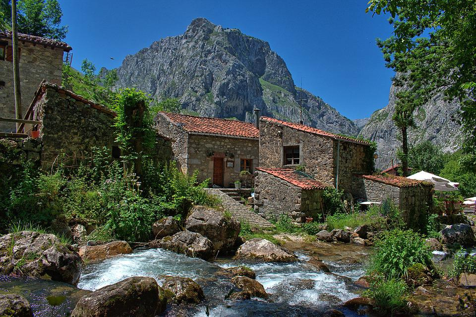 River, Landscape, Nature, High Mountains, Asturias