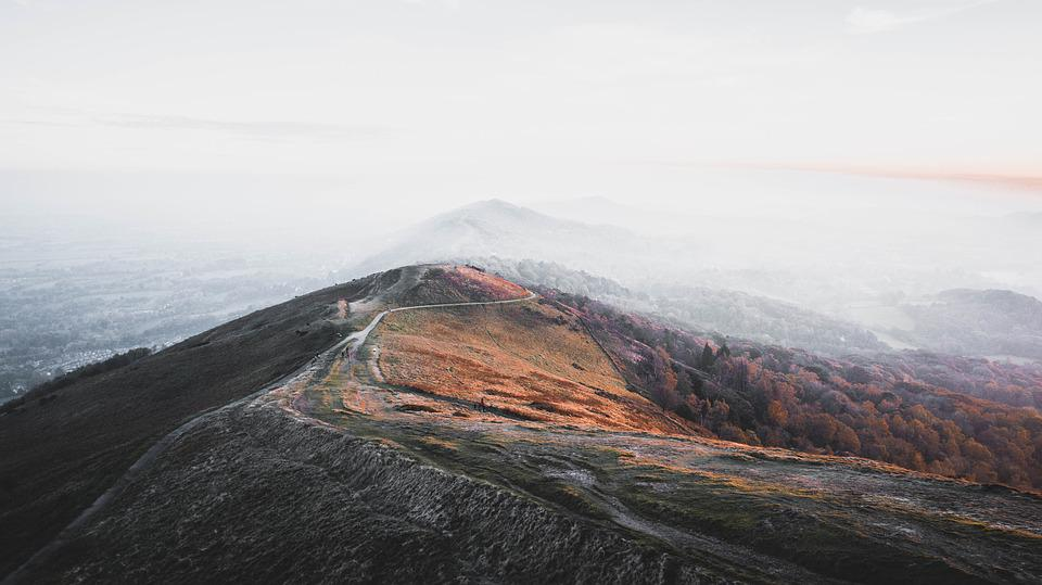 Nature, Landscape, Mountains, Sunset, Hills, Fog
