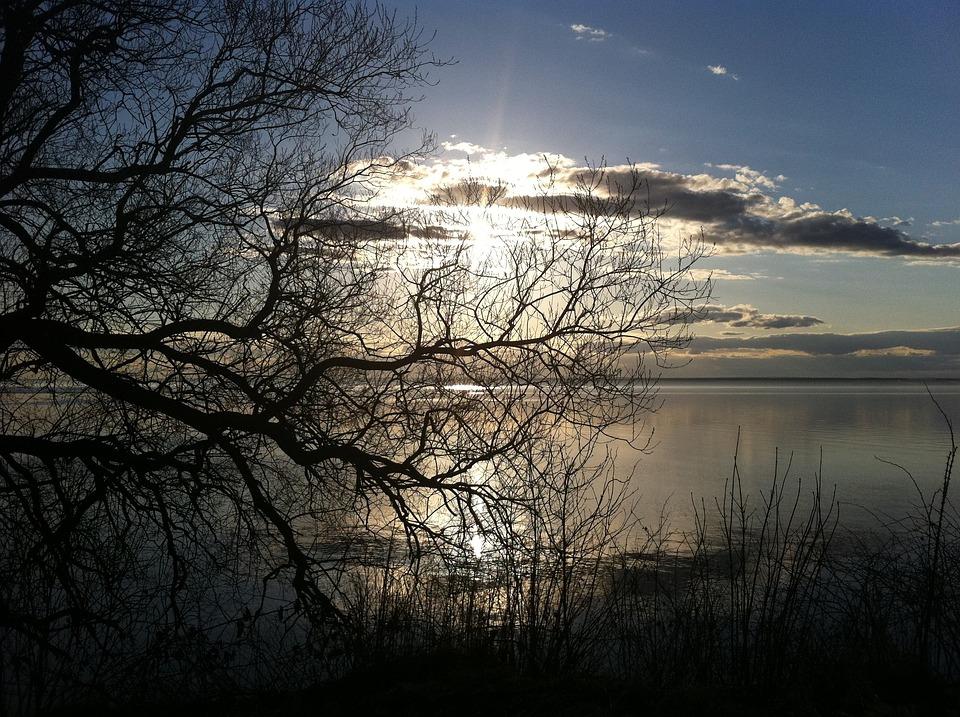 Sunset, Gränna, Vättern, Himmel, Cloud, Water, Nature