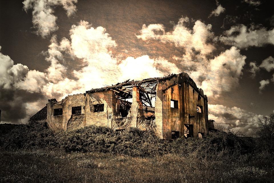 Abandoned, Outdoors, Nature, Landscape, Horizontal