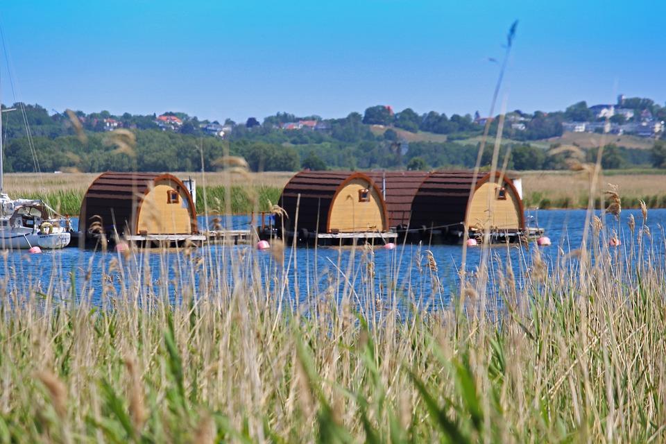 Houseboat, Raft, Gager, Rügen Island, Nature, Rest