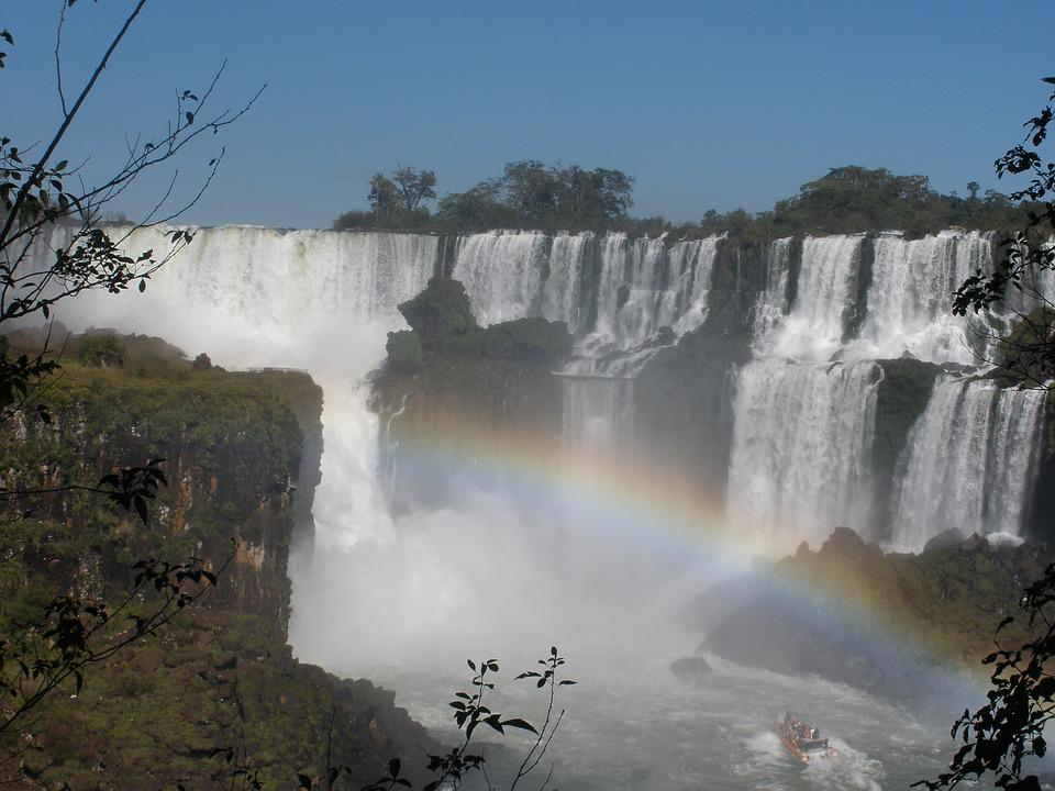 Iguazu Falls, Falls, Rainbow, Nature, Argentina