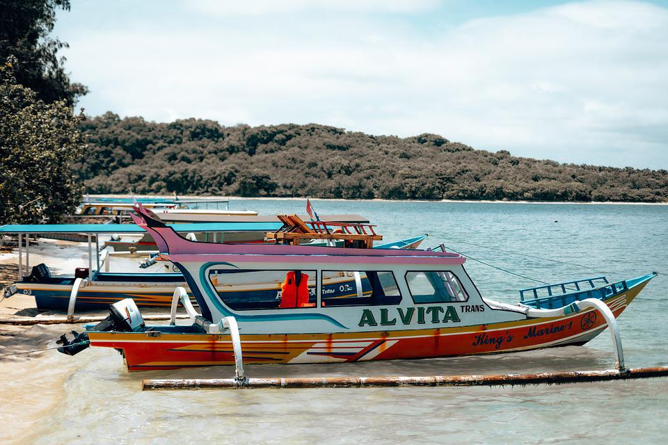 Lombok, Indonesia, Boat, Vacations, Summer, Nature