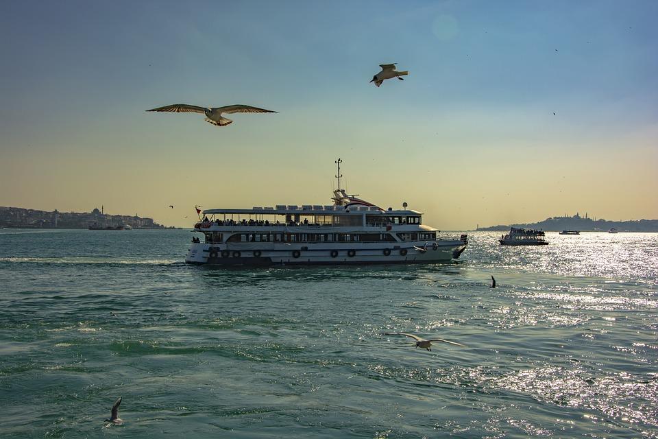 Istanbul, Boat, Marine, Sky, Ship, Nature, Turkey