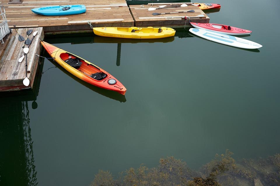 Kayak, Water, Dock, Still, Paddle, Boat, Nature, Lake