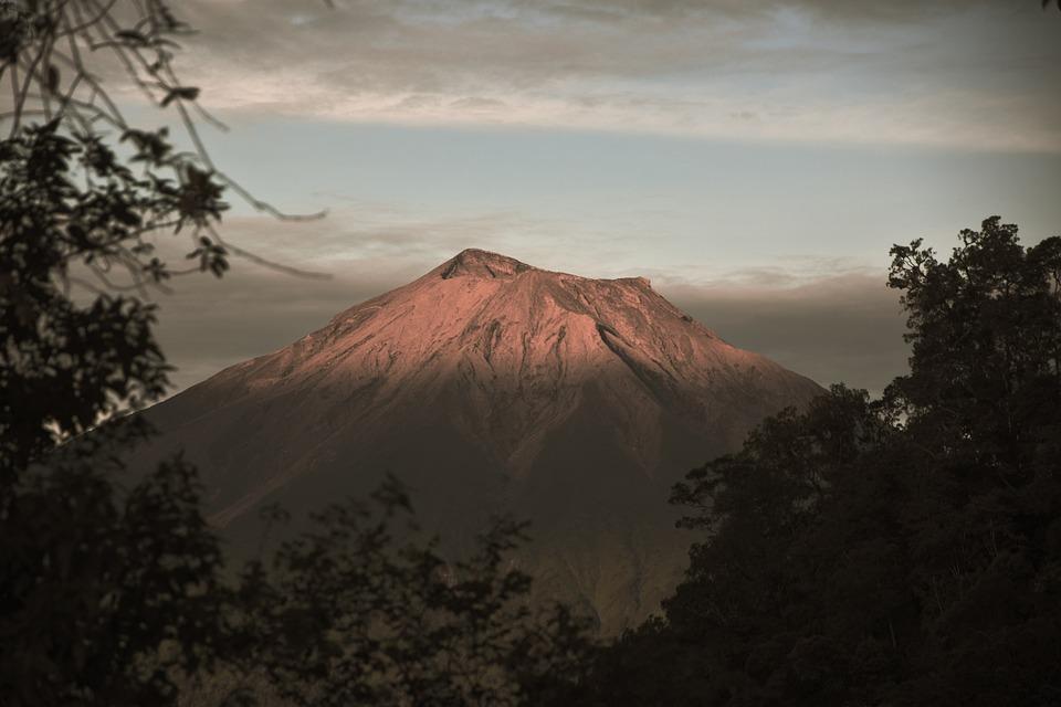 Mountain, Kerinci, Padang, Peak, Moody, Land, Nature