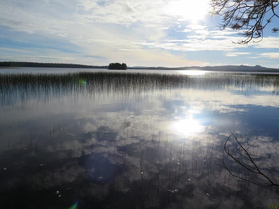Nature, Lake, Water, Blue, Finland, Sunshine, Waters