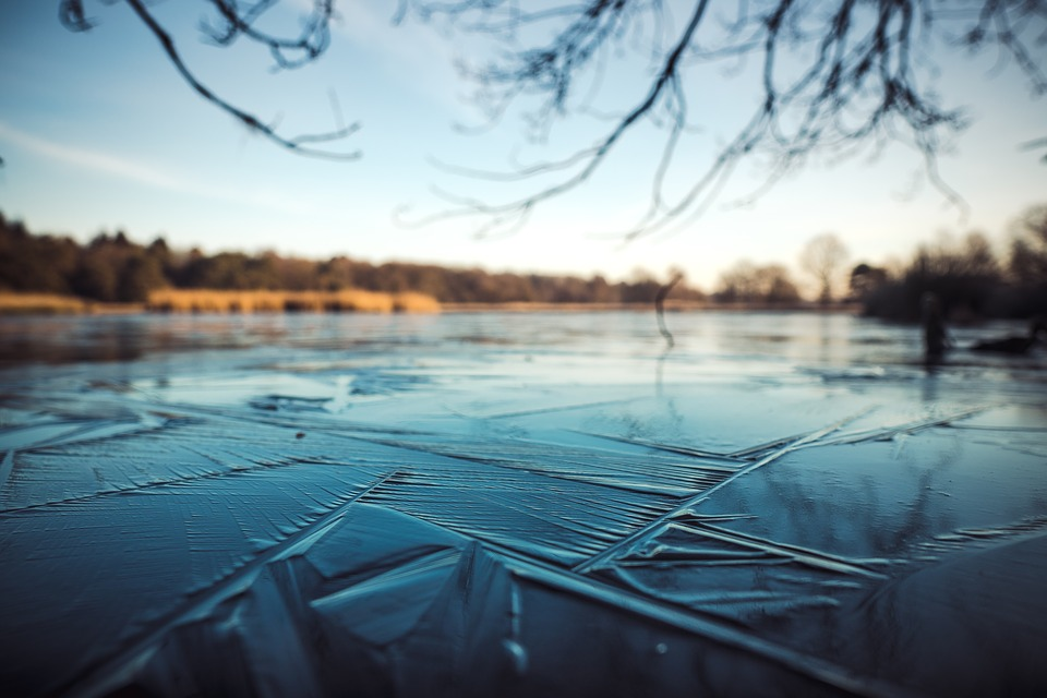 Ice, Lake, Water, Blur, Nature, Cold, Frozen, Blue
