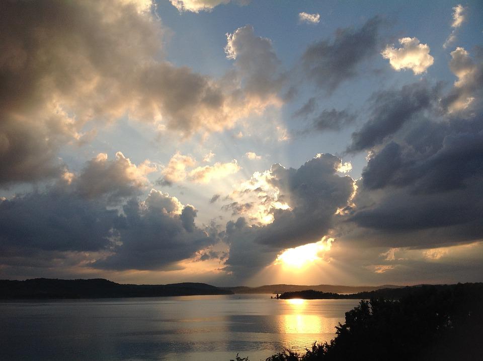 Sunset, Clouds, Water, Lake, Nature, Evening, Horizon