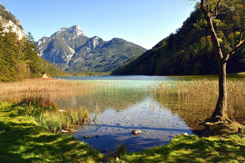 Lake, Nature, Landscape, Mountains, Styria, Austria