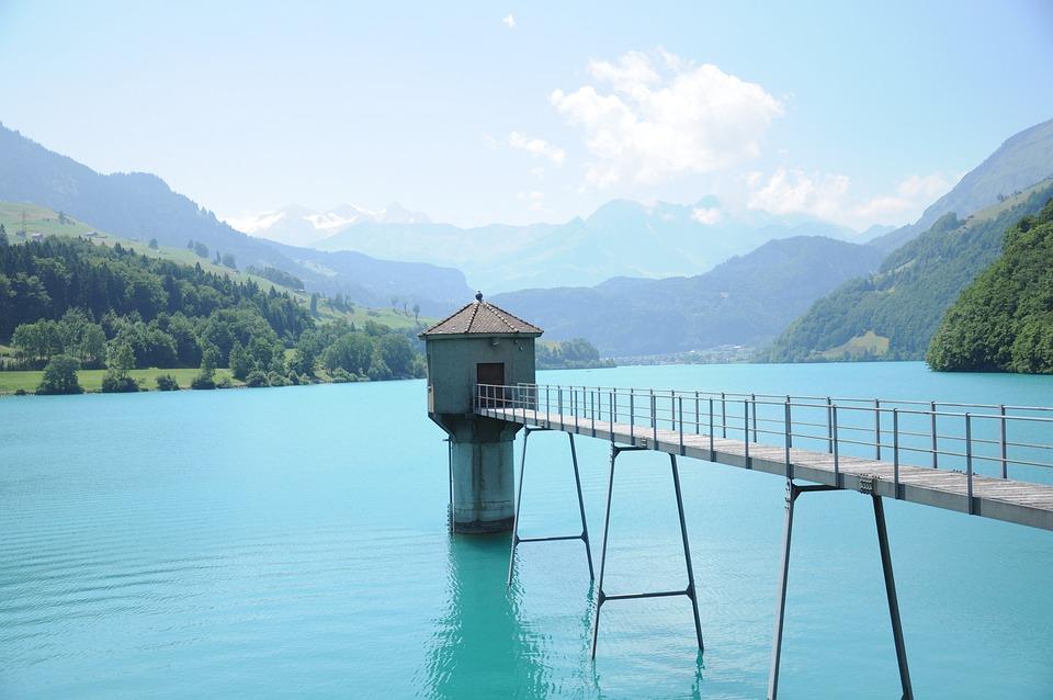 Lake Lungern, Switzerland, Summer, Nature, Landscape