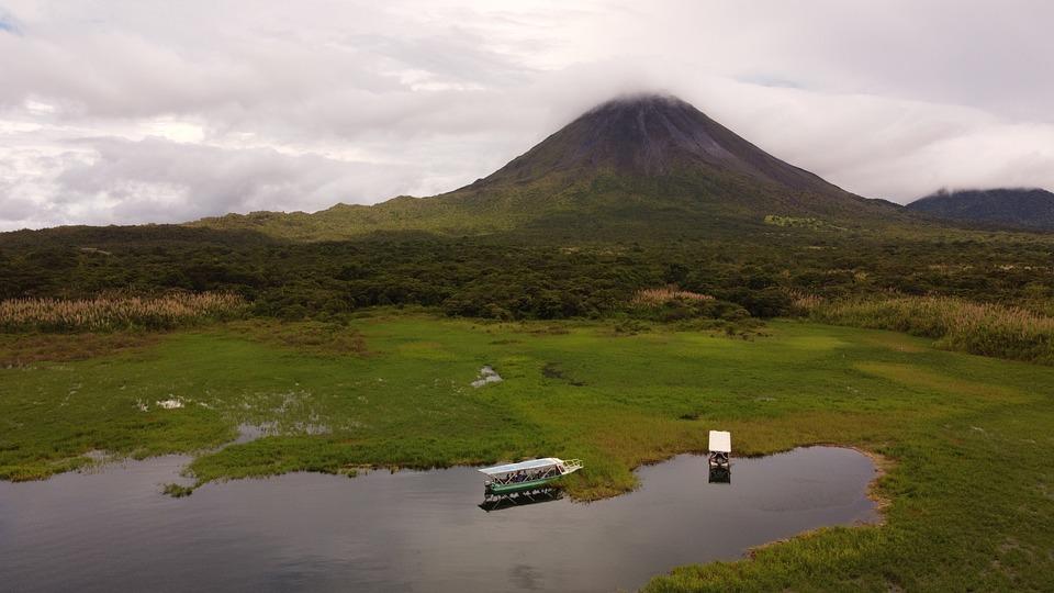 Volcano, Lake, Mountain, Nature, Landscape