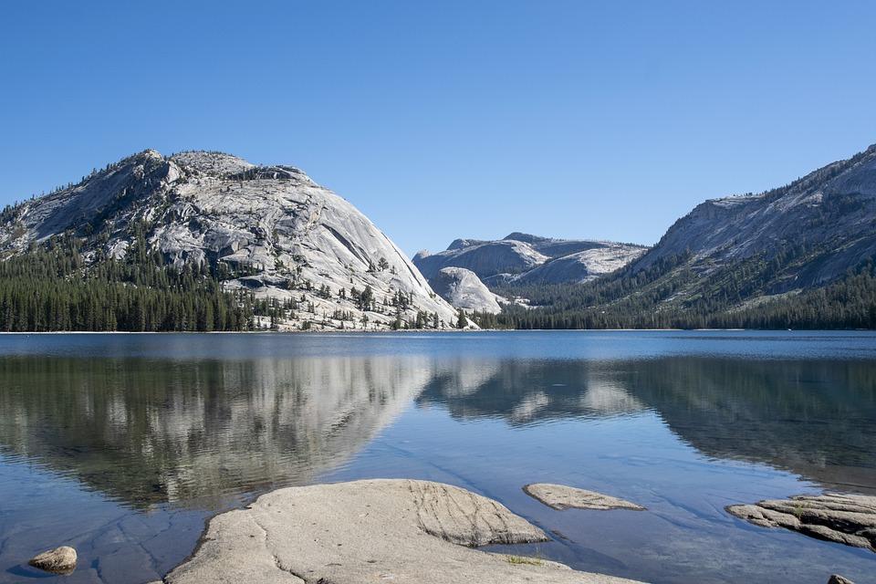 Yosemite, Lake, California, Mirroring, Summer, Nature