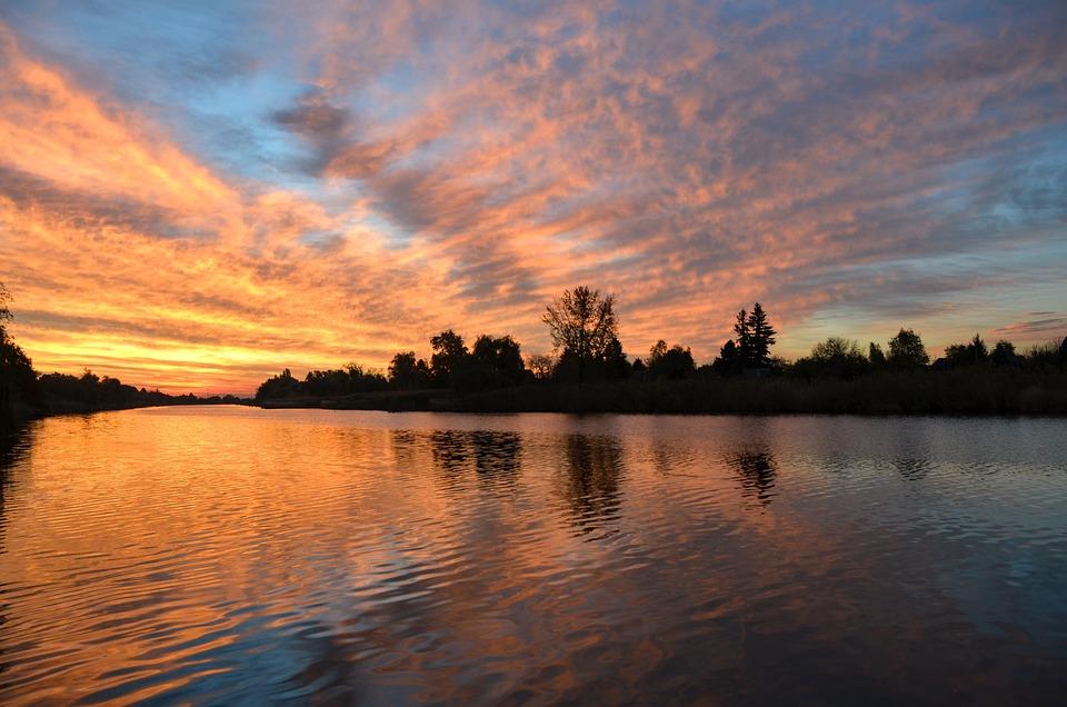 Sunrise, Reflection, Nature, Water, Water Surface, Lake