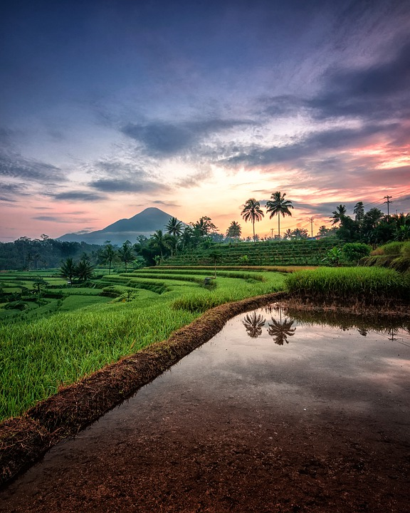 Nature, Landscape, Background, Pool, Mountain, Sunrise