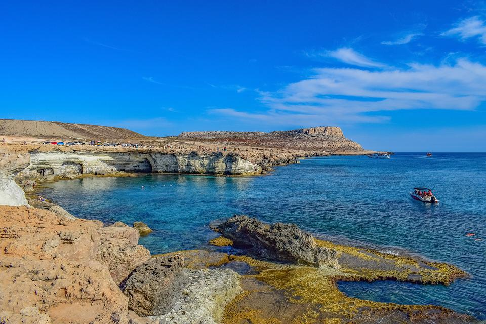 Cyprus, Cavo Greko, Sea Caves, Nature, Landscape, Sea