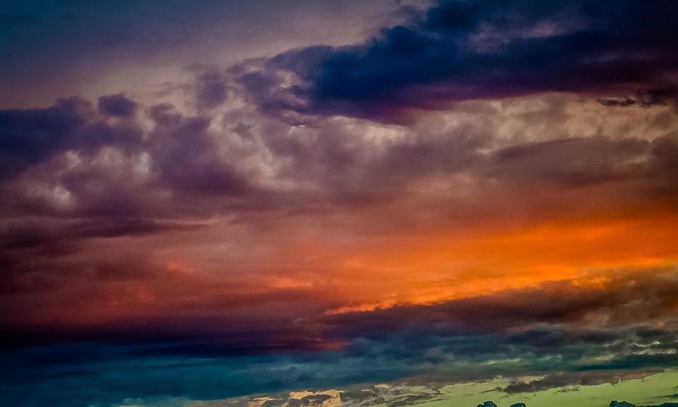 Clouds, Sun, Sky, Blue, Nature, Sunlight, Landscape
