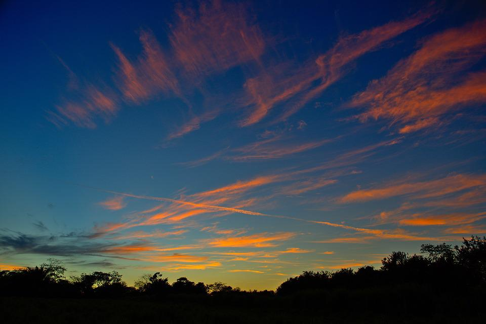 Sunset, Nature, Sky, Panoramic, Landscape, Clouds