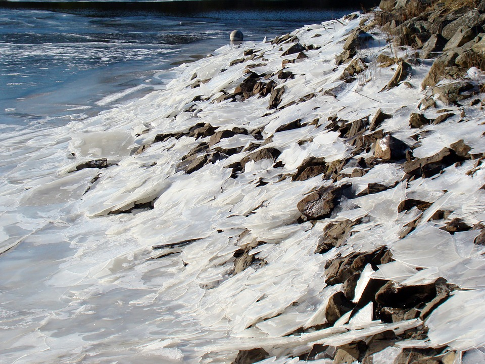 Ice, River, Winter, Landscape, Cold, Nature, Frozen