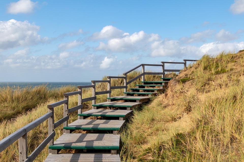 Dunes, Sylt, North Sea, Landscape, Nature, Sea, Sky