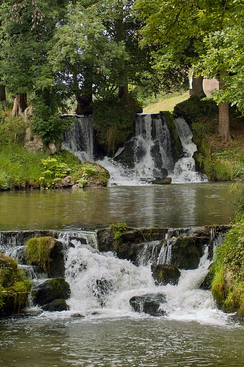 Nature, Cascade, Water, River, Landscape, France