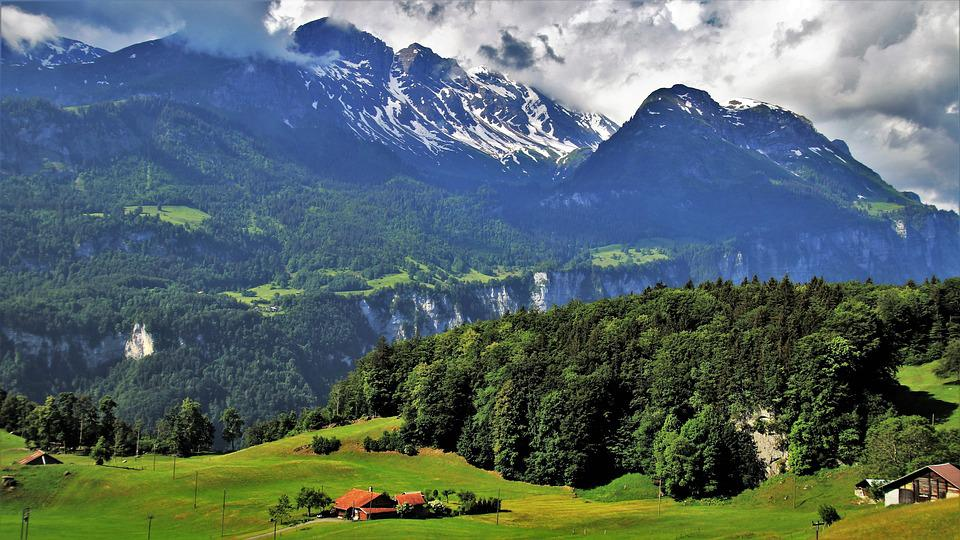The Alps, Panorama, Mountains, Landscape, Nature