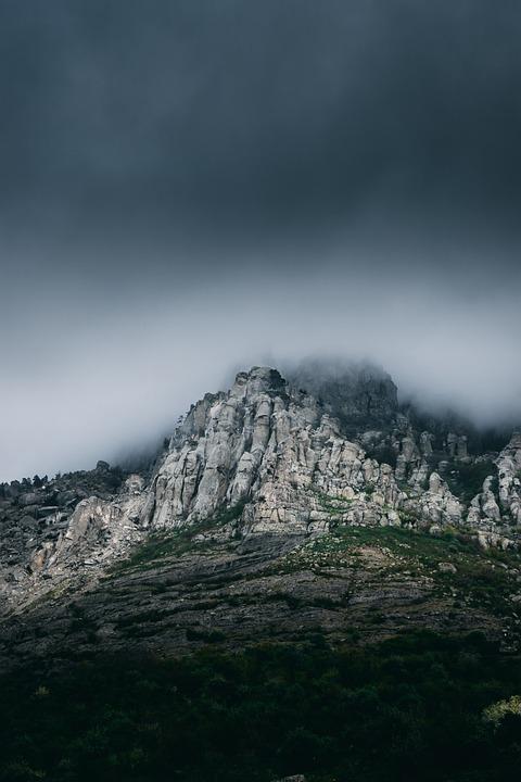 Mountains, Clouds, Weather, Storm, Nature, Landscape
