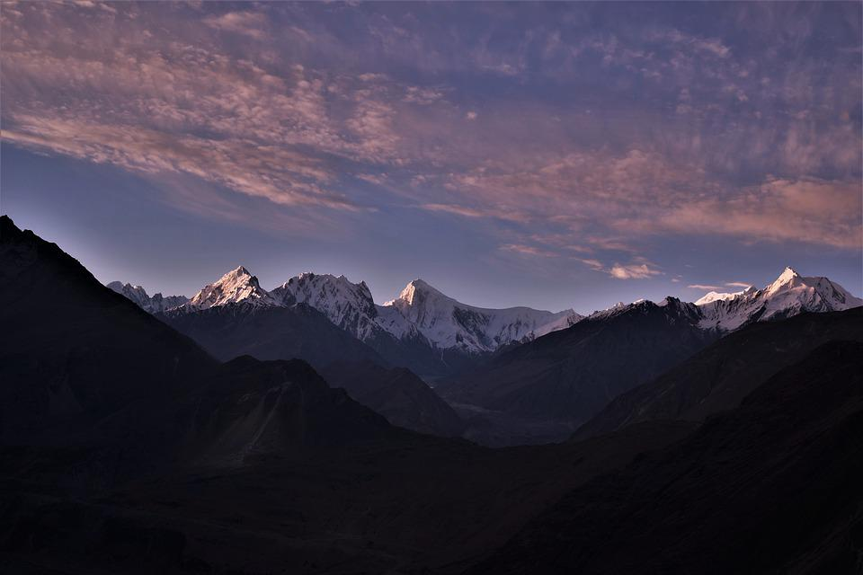 Pakistan, Nature, Scenery, Landscape, Mountain, Clouds