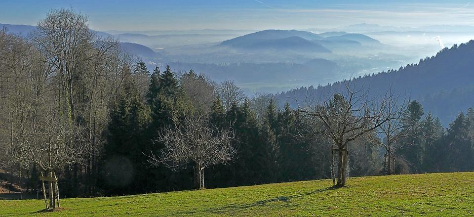Landscape, Nature, Hill, Fog, Valleys, Light, Sun