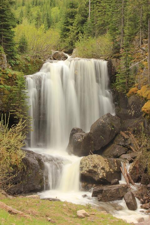 Waterfall, Water, Rocks, Nature, Landscape, Summer