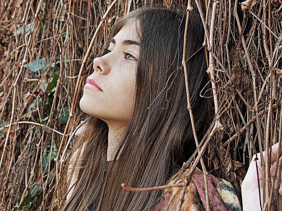 Autumn, Brown, Leaves, Girl, Long Hair, Nature