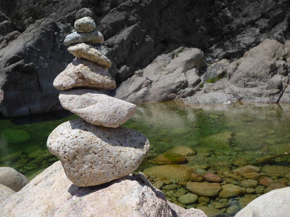 Steinmann, Balance, Meditation, Corsica, Rest, Nature