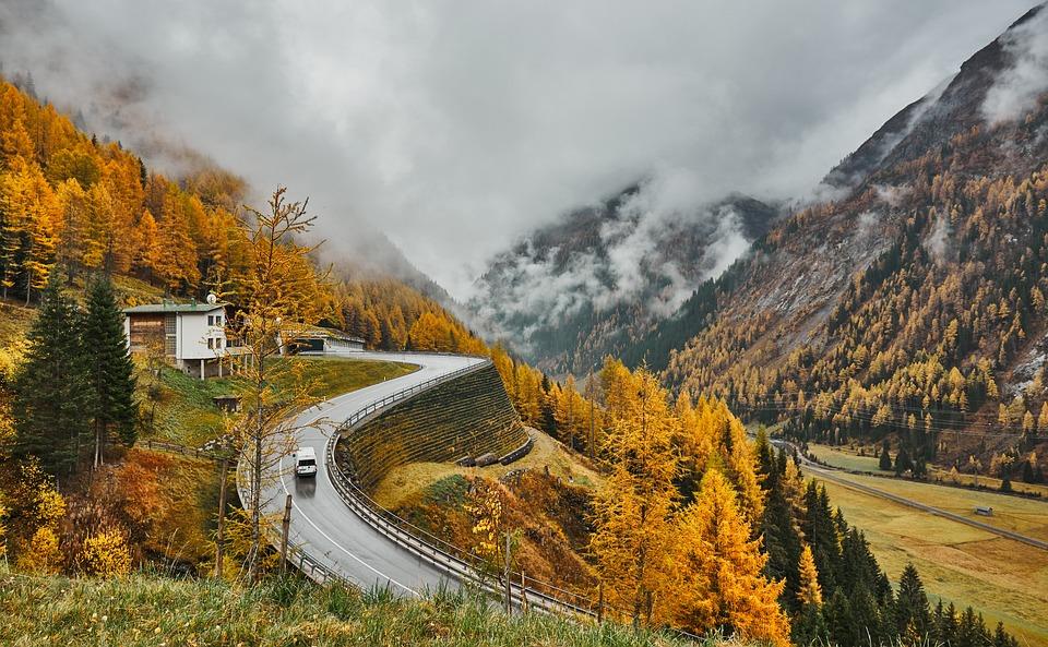 Nature, Road, Mountains, Alpine, East Tyrol, Mood, Fog
