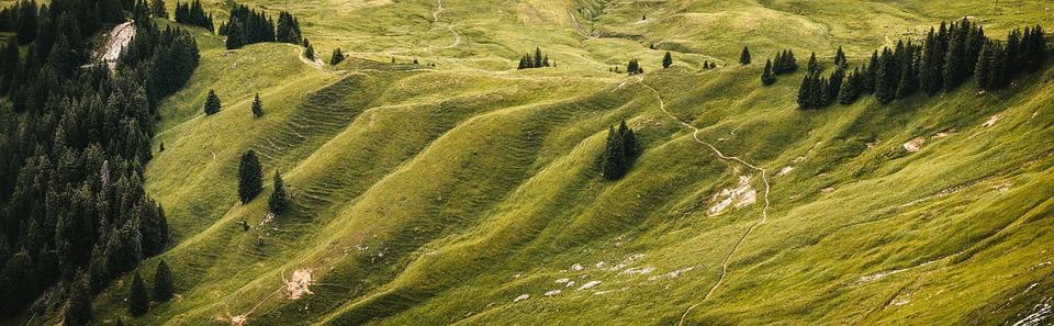 Hill, Landscape, Hilly, Nature, Green, Mountains, Mood