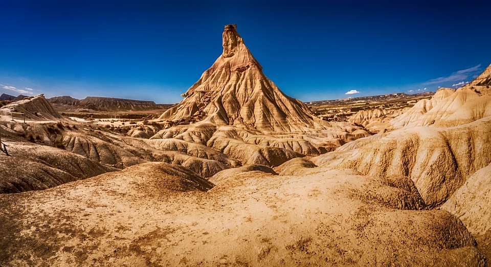 Desert, Mountain, Landscape, Rock, Nature