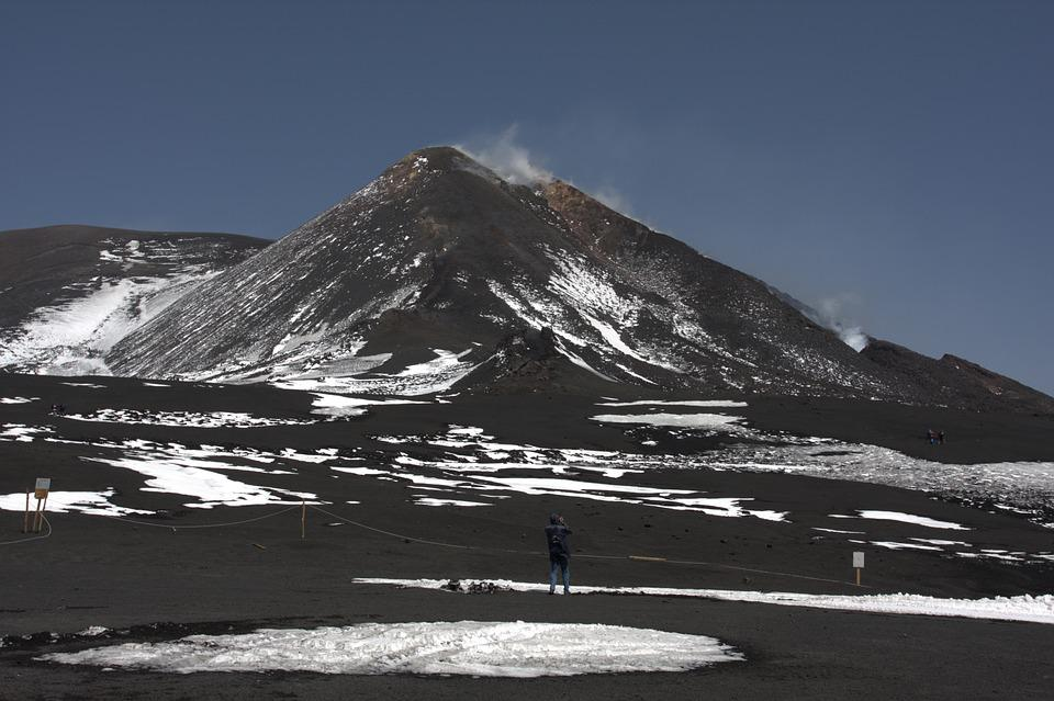Snow, Mountain, Nature, Landscape, Outdoors, Etna, Ice